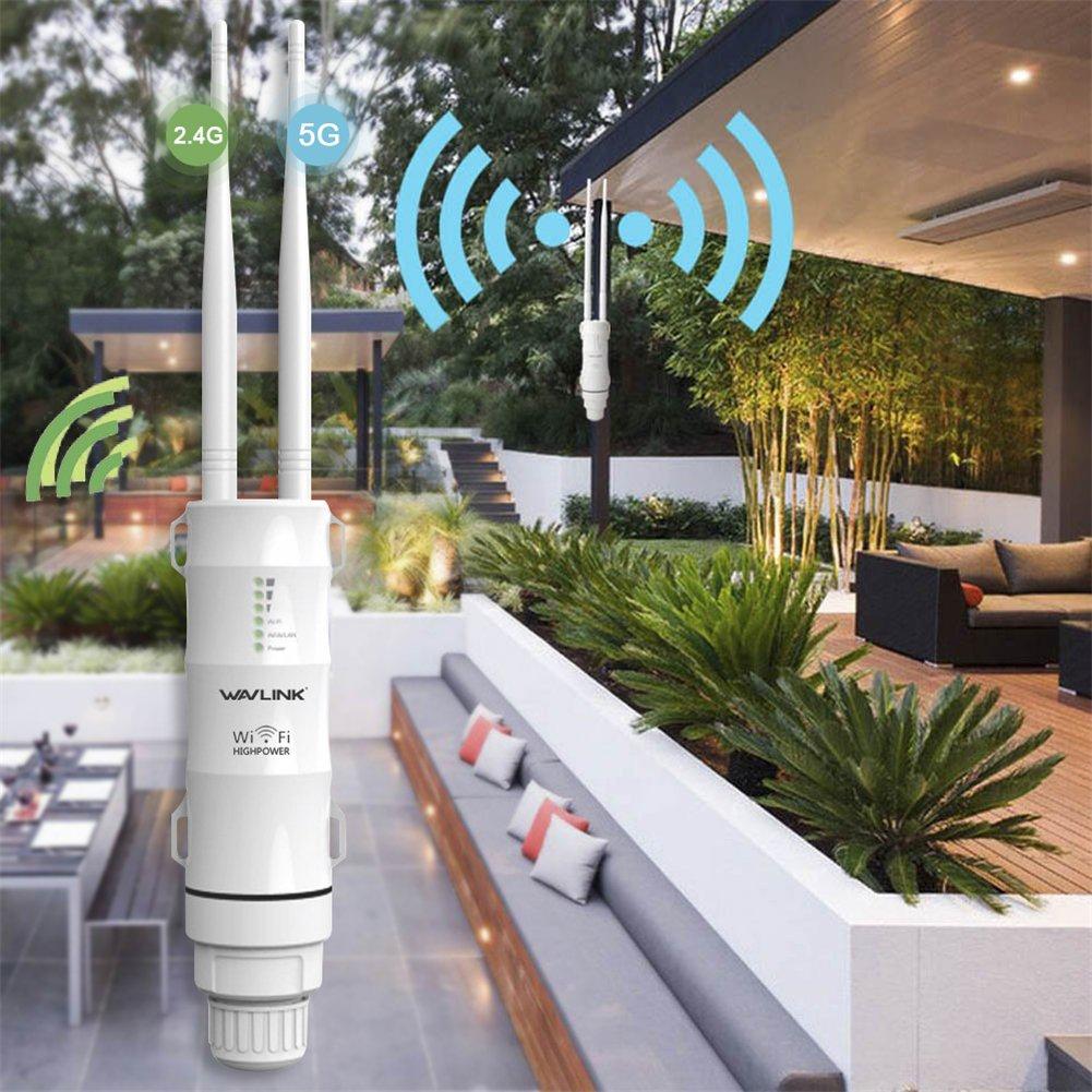 5ghz 433mbps Antenne Omni directionnelle de 1000mw 28 dbm Polarisée Par Double Lifesongs Routeur de Point dAccès de Répéteur Imperméable à lEau Cpe de Wifi de Haute Puissance Imperméable Wisp 2.4ghz 150mbps