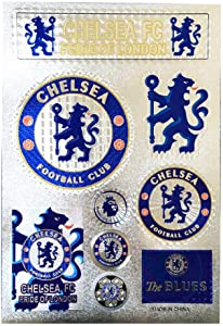 Football Club Soccer Team Logo Stickers Car Glass/Wall/Laptop/Favorite Items Sticker Decal (New Chelsea, 7.5-10.6 inch)