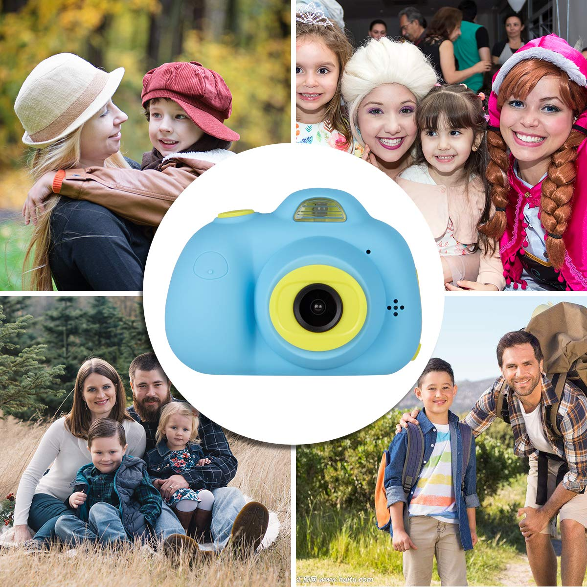 Kids Cameras Dual Selfie Digital Camera HD Video Recorder Action Camera Camcorder for 4-9 Year Old Kids Birthday Festival Gifts Toys for Children Boys Girls 2.0'' LCD Screen 4X Digital Zoom (Blue) by Tyhbelle (Image #5)