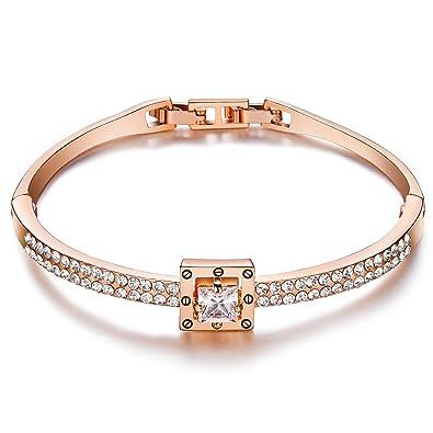 bracelet swarovski cristal rose