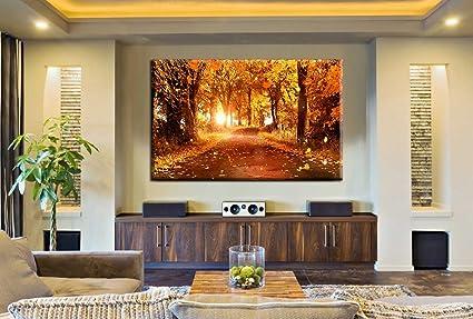 Amazon.com: Large Forest Print Landscape Painting on Canvas ...