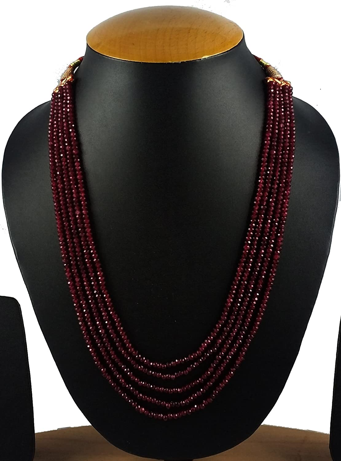 pearl necklace diamond india products for with lady maroon alloy opera green trendy moti colored necklaces women