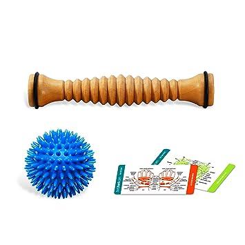 Body Back Companys Wooden Foot Roller Soft Spiky Porcupine Massage Ball Reflexology