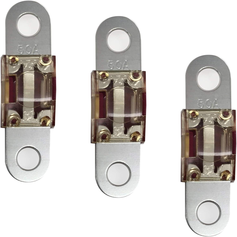Midi Car Inline Fuse Holder 2 x 100 Amp Midi Fuses Terminals And Heat Shrink