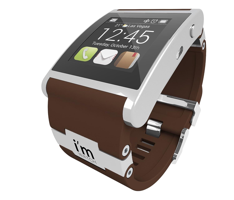 I 'm 128MB Watch Uhr mit Kautschuk Armband Silber - braun