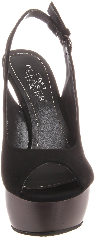 Pleaser Women's Swan-654/BS Platform Sandal B005NCY5TC 10 B(M) US|Black Suede