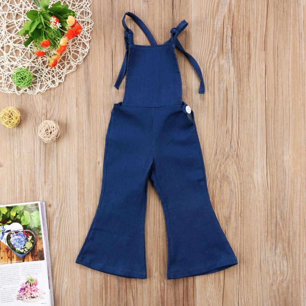 7a0f369e0 Amazon.com  2018 Toddler Kids Baby Girl Adjustable Strap Jeans Bib ...