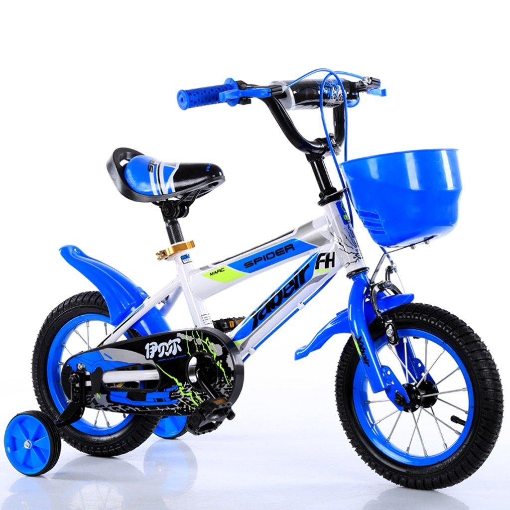 美しい 家チャイルドフォールド自転車3-6-8歳のベビーベビーカー12インチ14インチ16インチ18インチバイク (色 : 青, サイズ さいず : 12Inch) B07CY3P439 12Inch|青 青 12Inch