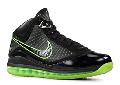 new arrival ec1b0 83399 Nike Mens Air Max Lebron VII Black Electric Green Leather Size 9