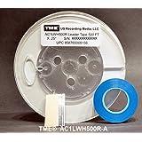 TME AC1LWH500R-A リーダーテープ オープンリール オーディオ 不透明 ホワイト 1/4インチ x 500フィート 5インチプロリール スプライシングテープとメディアブレード付き