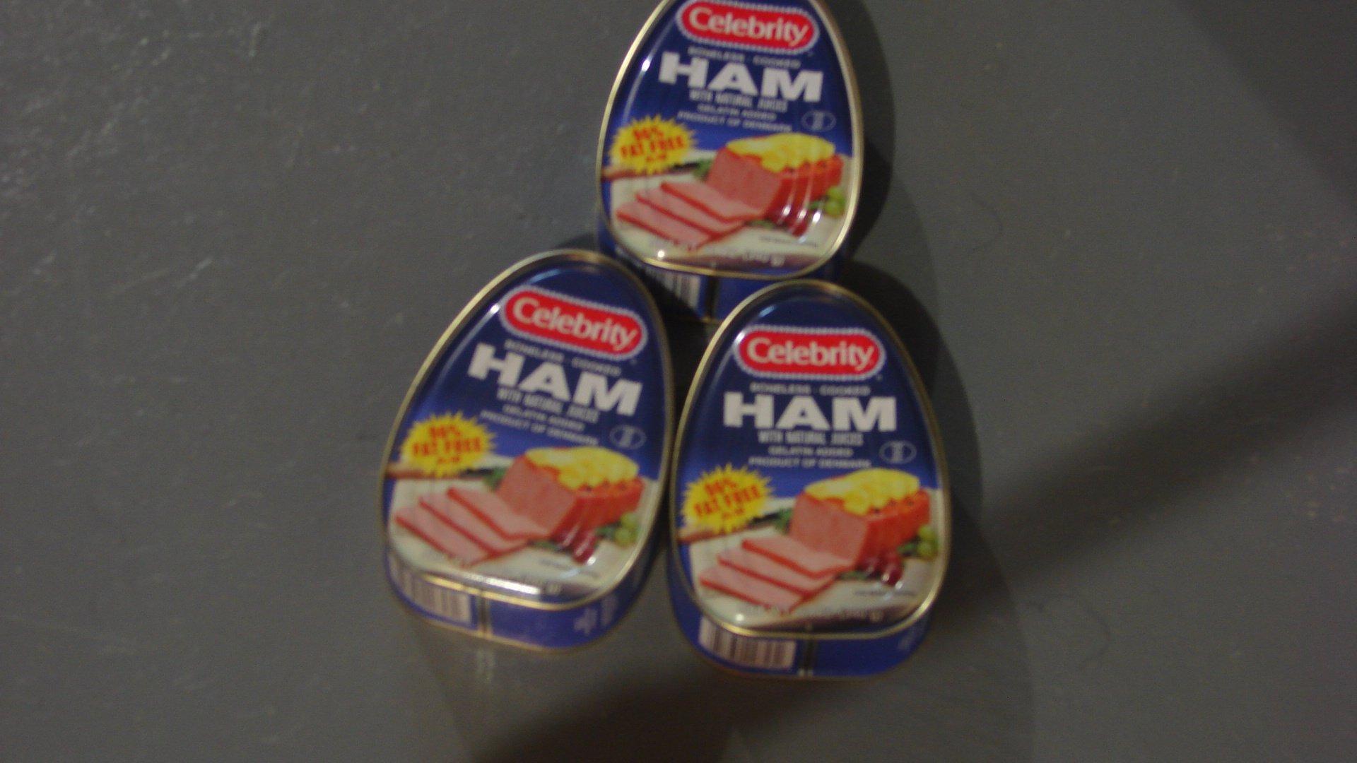Celebrity Boneless Cooked Ham Fat Free 12oz( Pack of 3)