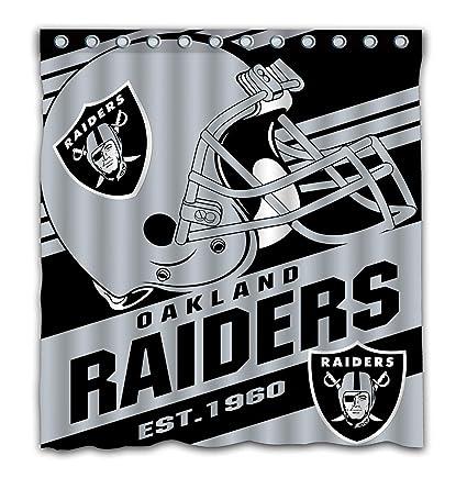 Amazon Potteroy Oakland Raiders Team Stripe Design Shower