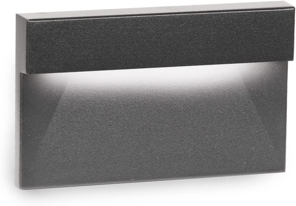 WAC Lighting 4031-27WT LED Low Voltage Horizontal Scoop Step and Wall Light 2700K White
