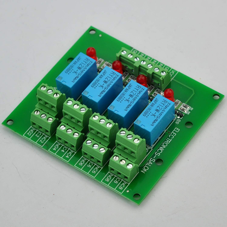 version. Electronics-Salon quatre Signal de la voix DPDT Module de relais 12 V Conseil
