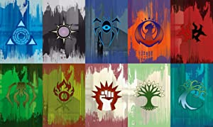 HiddenSupplies.com Ravnica Flags Compatible with Magic The Gathering, Pokemon, Yugioh MTG Playmat TCG Gaming Mat 24 x 14 Inch