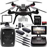 3DR Solo Quadcopter (No Gimbal) with Manufacturer Accessories + Extra 3DR Flight Battery + 2 3DR Propeller Sets + 3DR Solo Backpack + SanDisk 32GB Extreme PRO microSDHC Memory Card + MORE