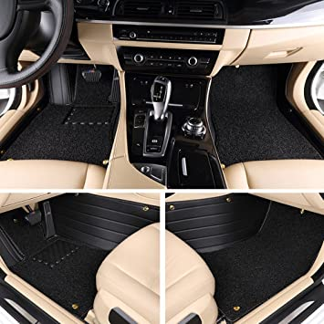 Cool Car Custom Fit Waterproof Full Set Floor Mats Xpe Leather