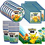 Pokemon Pikachu & Friends Birthday Party Tableware Pack for 16
