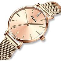 CIVO Women Watches Ladies Slim Ultra Thin Minimalist Waterproof Wrist Watches Fashion Elegant Luxury Casual Stainless Steel Mesh Rose Gold Quartz Watch for Woman Girls