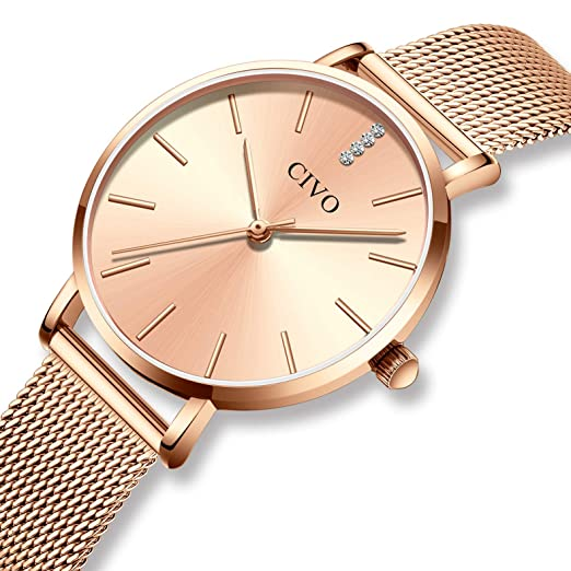31f2b59d80a CIVO Womens Watches Ultra Thin Minimalist Slim Waterproof Watch for Ladies  Girls Luxury Fashion Dress Casual