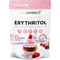Powdered Erythritol - Zero Calorie Icing Sugar 1kg (2.2 lb) - Bag Design May Vary
