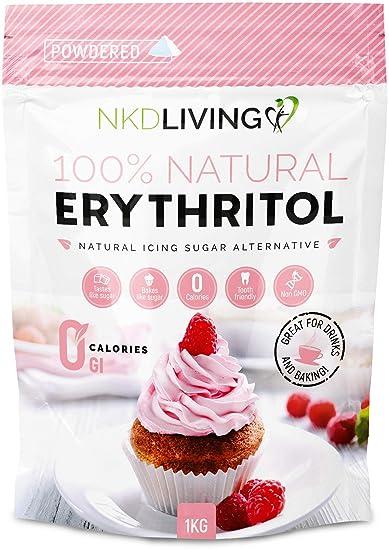 Eritritol en polvo: azúcar glaseado con cero calorías de NKD Living