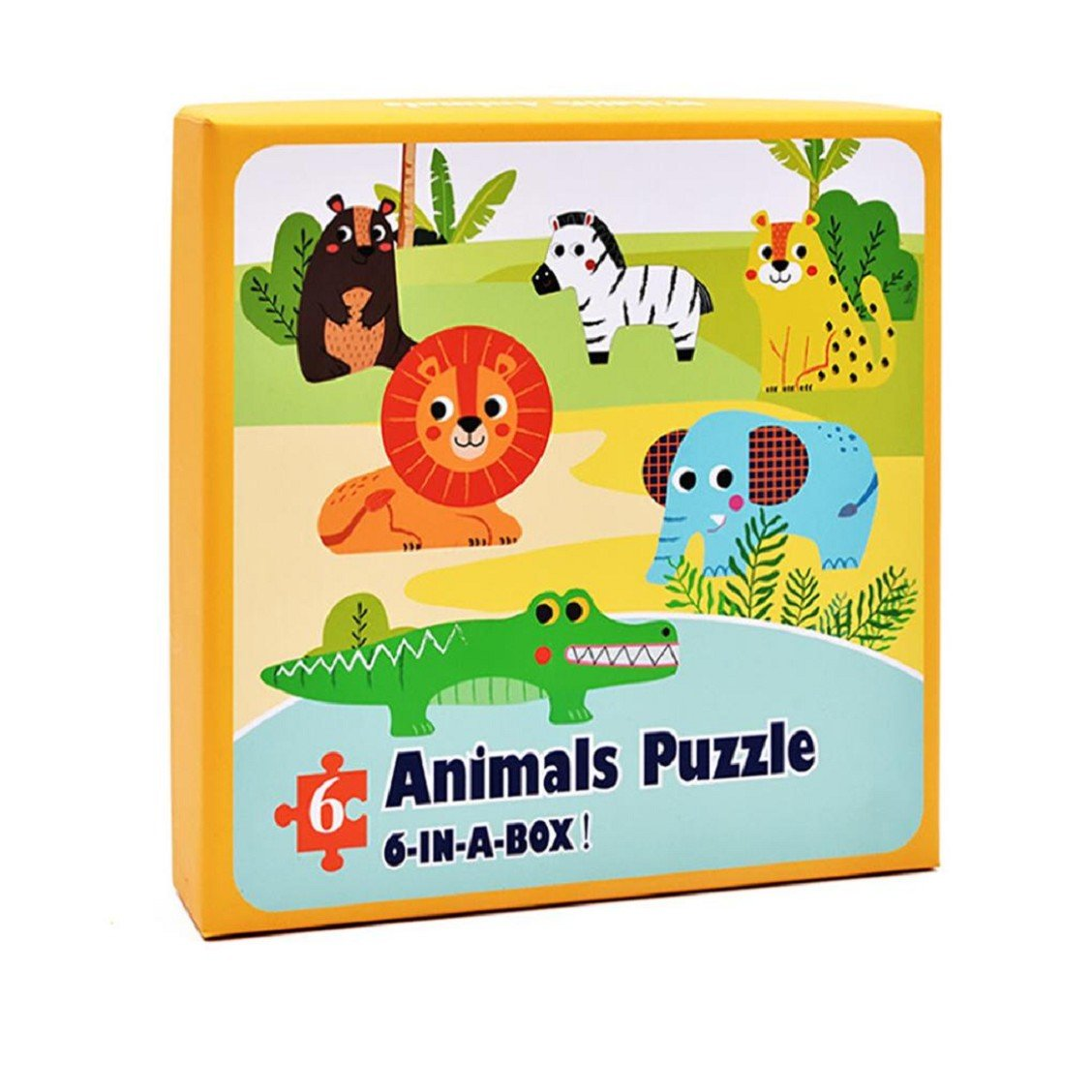 Naladoo Baby Toy Farm Forest Animals Paper Puzzle Educational Developmental Baby Kids Training Toy