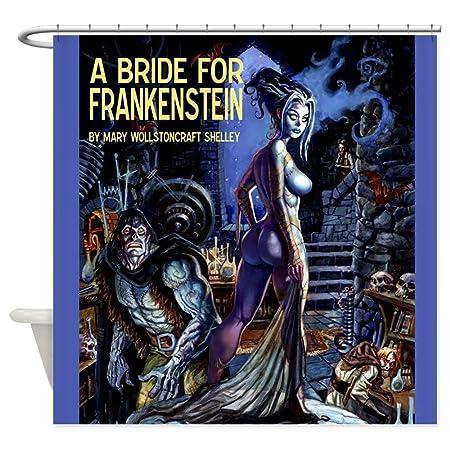Bride Of Frankenstein Decorative Fabric Shower Curtain 69x70 Home Kitchen
