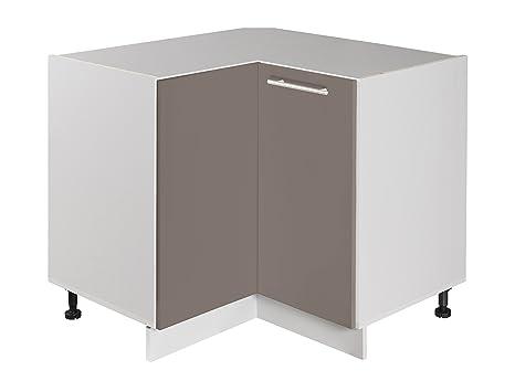 Easy Cuisine Low Angle 2 Door Element Grey Lacquer Amazon Co Uk
