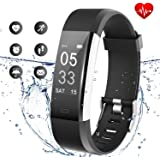 Lintelek Fitness Tracker, Activity Tracker with Heart Rate Monitor, Waterproof Smart Fitness Watch with Sleep Monitor, Step Counter, Calorie Counter, Pedometer Watch for Kids, Women and Men