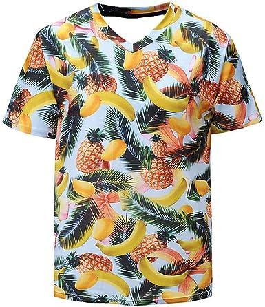 KAYLRR Tops de Moda Frutas Tropicales Mango, Piña Y Manzana ...