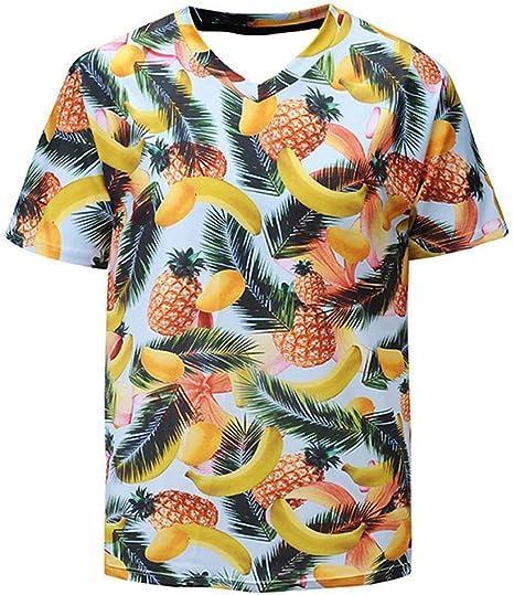 KAYLRR Tops de Moda Frutas Tropicales Mango, Piña Y ...