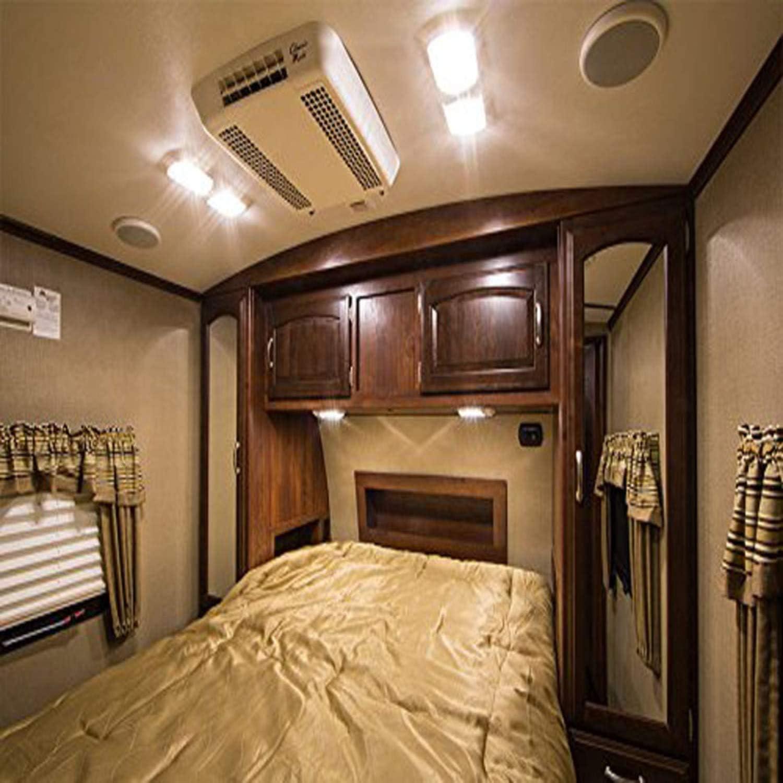Kohree Plafonnier de Camping-car 12V 6W LED Lumi/ère Blanche Naturelle Double Feu avec Interrupteur pour Camping-car Caravane Bateau Lot de 2