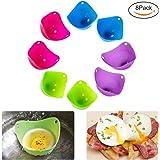 Egg Poacher- 8 pack - These Revolutionary Egg Poachers Will Take Over From Your Old Unhygienic Cookware/Egg Cup/Egg Poacher Pan/Egg Cooker/Egg Boiler/Microwave