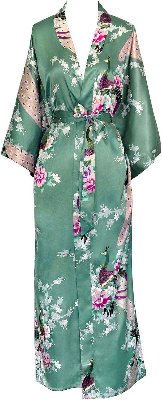 Peacock /& Blossoms Old Shanghai Women/'s Kimono Long Robe