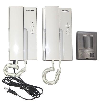 Magnificent Amazon Com Commax Audio Intercom System 2 To1 Doorphones And Wiring Digital Resources Skatpmognl