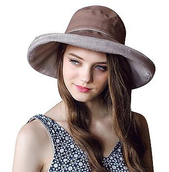 f26c032b Women's Roll-up Brim Cloche Hat Round Crushable Bowler Hat Cap Cotton Beach  Travel Sun