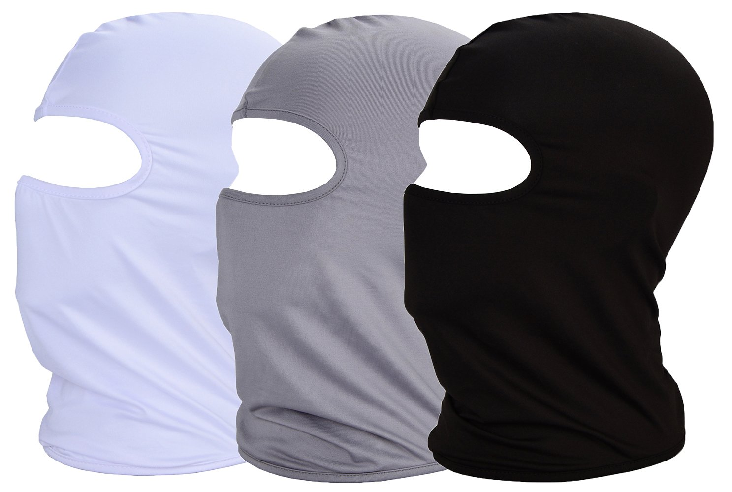 MAYOUTH UV//sun Dust protection Balaclava summer Face Mask Thin Breathable Elastic Fabric Windproof Cycling Sports Outdoor Full Face Mask 3-pack Gift Present