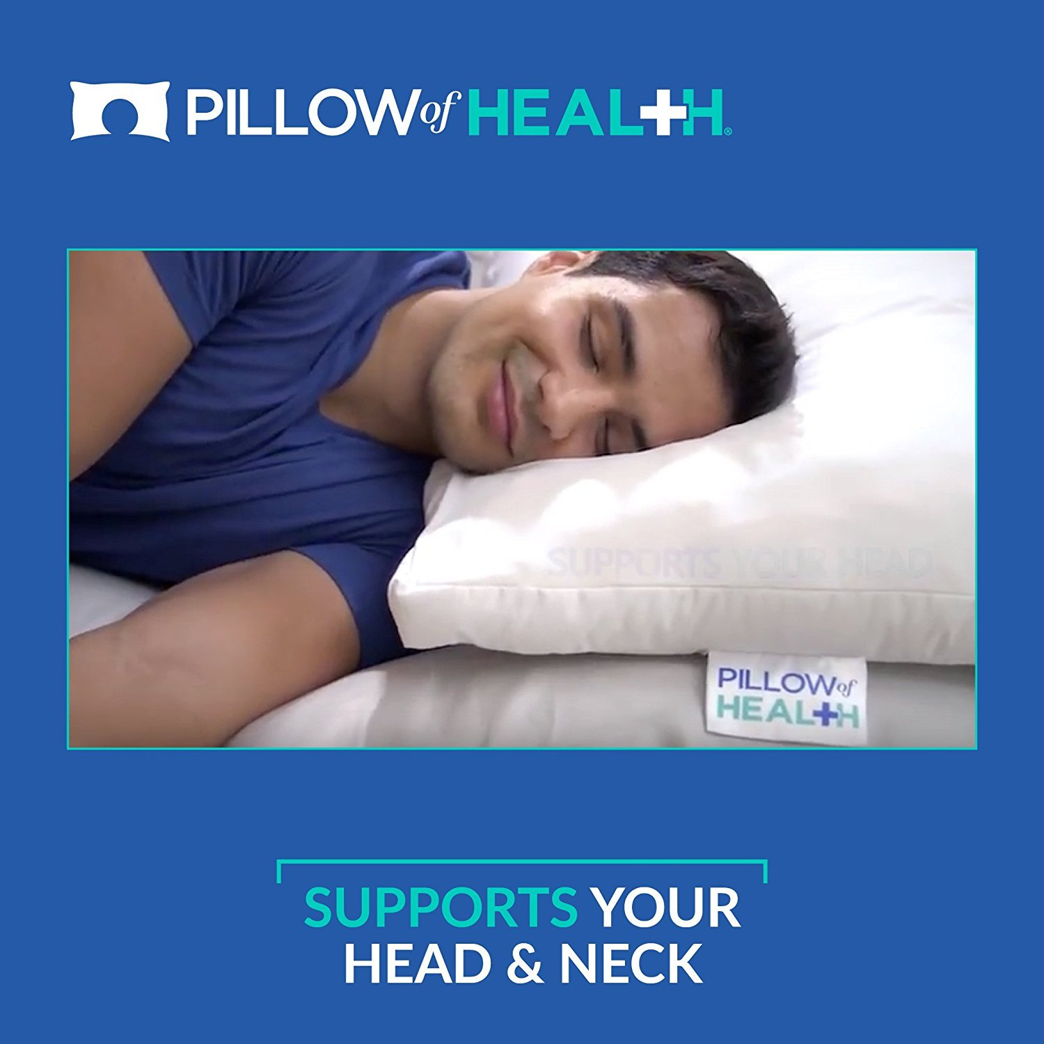 PILLOW of HEALTH | Luxury, Customizable, Therapeutic Pillow For Better Sleep | Patented Adjustable Design | Antimicrobial, Hypoallergenic, Dust Mite Resistant | Made in America - King 2 Pack by The Pillow of Health (Image #7)