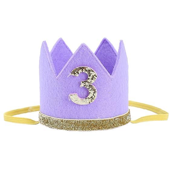 TOOGOO Corona sombrero de primero cumpleanos de nina nino ...