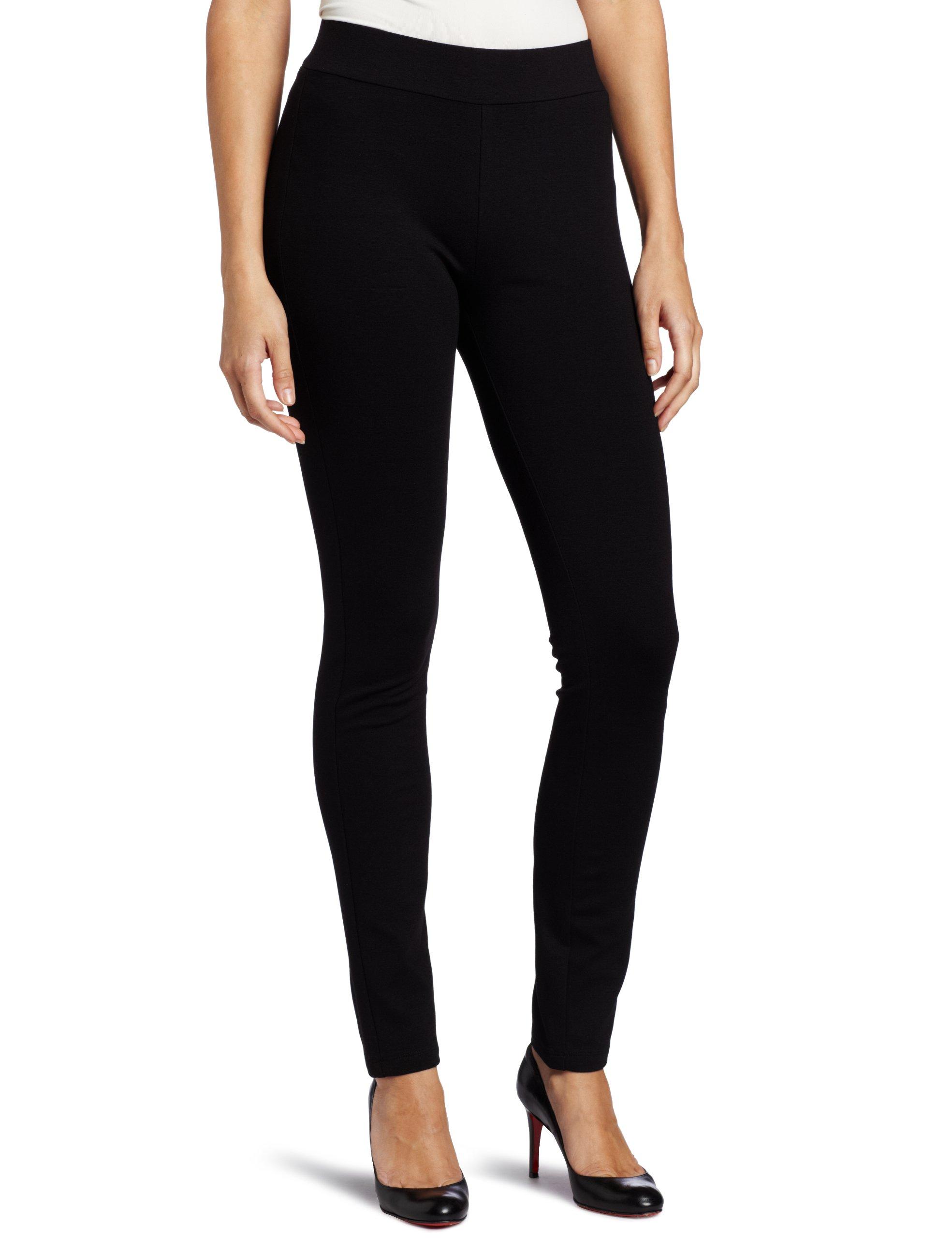 NYDJ Women's Petite Jodie Basic Ponte Pull On Legging, Black, 2P