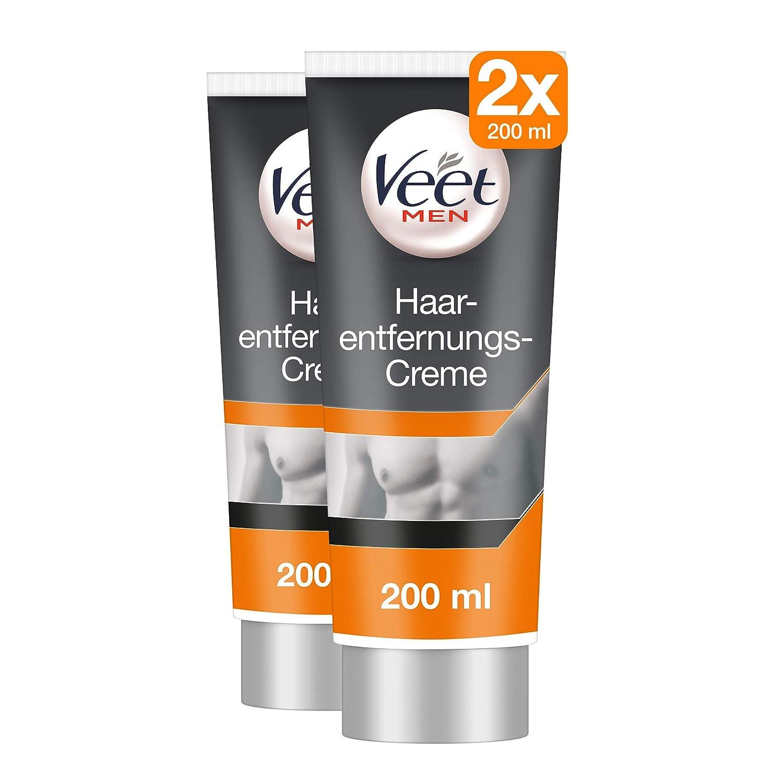 2 x Veet for MEN Crema depilatoria Afeita Íntima Rango axilas 200 ...