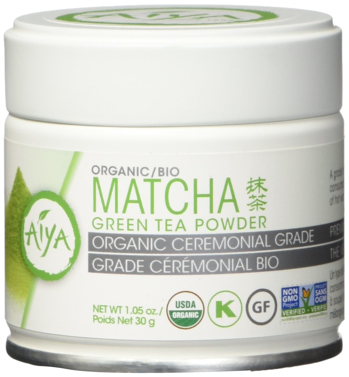Aiya America Organic Ceremonial Matcha Green Tea Usu-cha (30 Gram Tin)