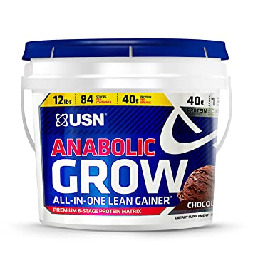 amazon com usn anabolic grow all in one lean gainer 12 pounds