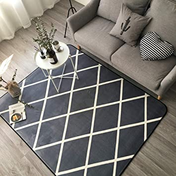 Ukeler Modern Grey Area Rugs Non-Skid Floor Accent Rugs for Living  Room/Bedroom/Dorm Room, 59\'\'x74.8\'\'