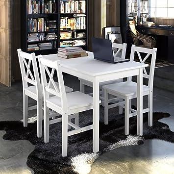 WEILANDEAL Conjunto de Comedor de Mesa con 4 sillas de ...