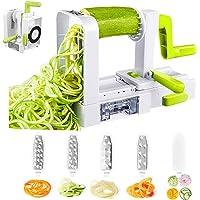 Deik Espiralizador de Vegetales, Cortador de Verduras , Pasta Vegetal Maker y Mandoline Slicer para
