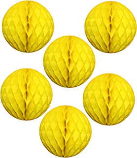 """product image for 12"""" Honeycomb Tissue Paper Ball Decoration (6-Pack, Yellow)"""