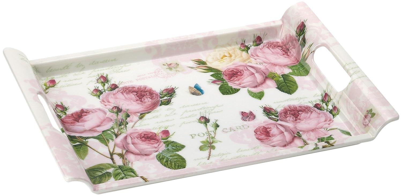 Nuova R2S R8610.283 Plateau Rectangulaire Roses Romantiques 52x37cm ...