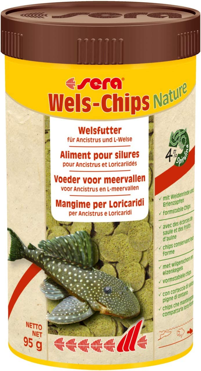 Sera Mangime in Chips, Wels-Chips - 250 ml